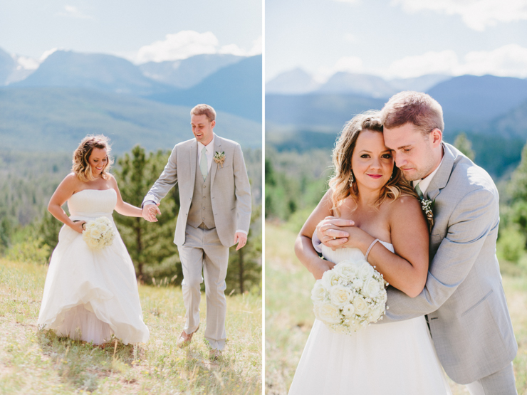 Bride and Groom photography in the mountains at YMCA of the Rockies, Overlook Chapel Colorado