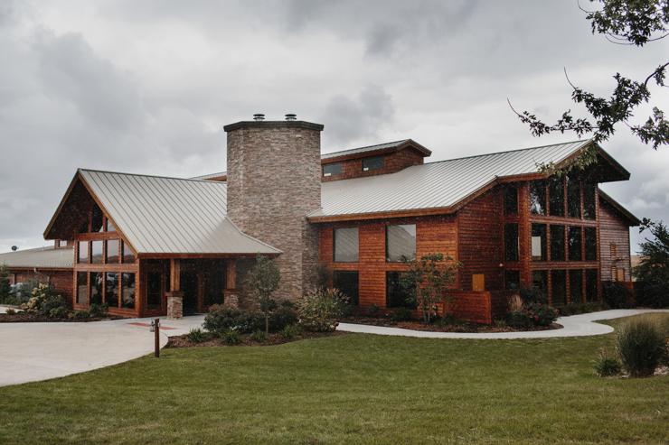Ceremony Location at Pear Tree Estate in Champaign, IL