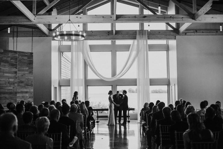 Indoor Ceremony Pear Tree Estate Champaign IL