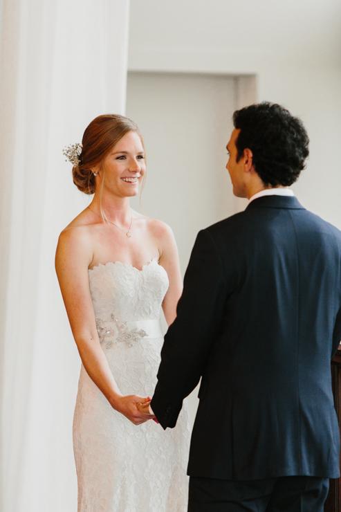 Indoor Wedding Ceremony Pear Tree Estate Champaign IL
