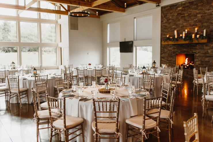 Indoor Wedding Reception Pear Tree Estate Champaign IL