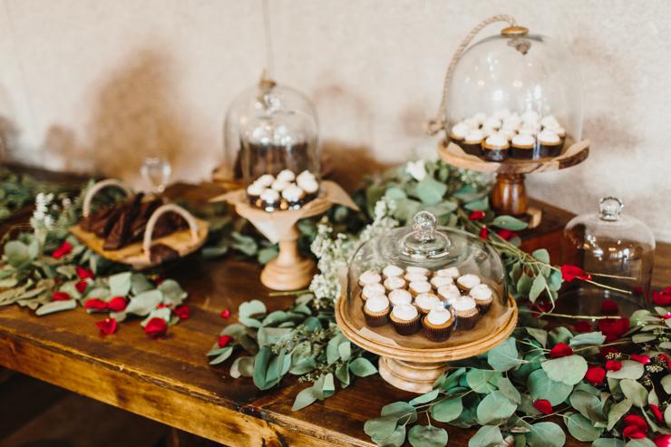 Desserts at Pear Tree Estate Champaign IL Wedding Reception