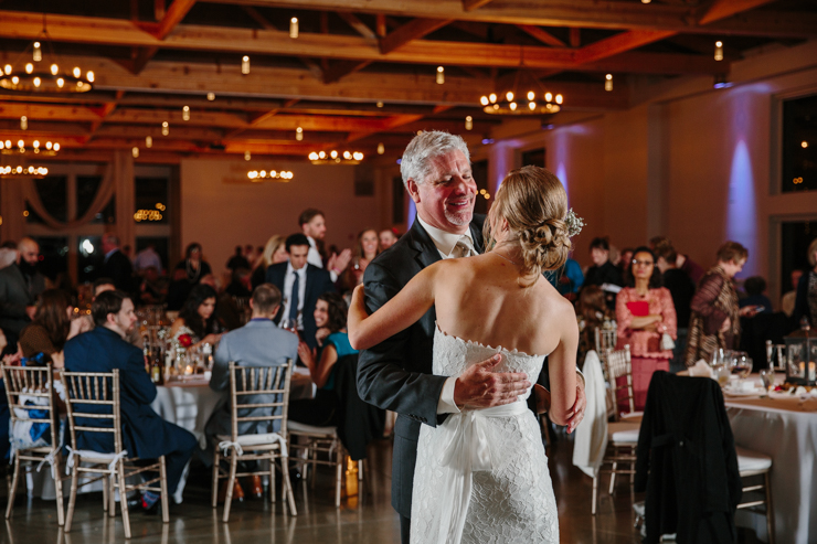 Bride and Father and their first dance at Pear Tree Estate Champaign, IL