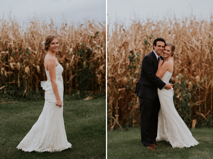 Bride and Groom outdoor wedding portraits Pear Tree Estate Champaign, IL