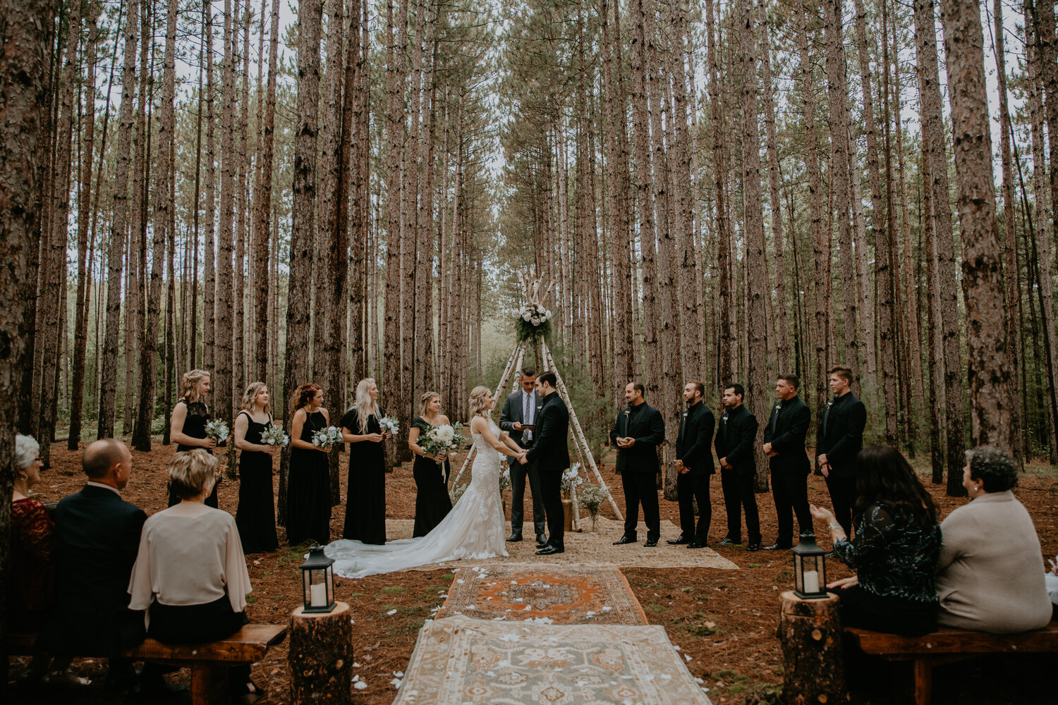 Meredith Washburn Chicago Il Wedding Elopement And Adventure Photographer Romantic Boho Chic Wisconsin Forest Wedding Their family and friends gathered outside of madison, wisconsin to celebrate their love. meredith washburn