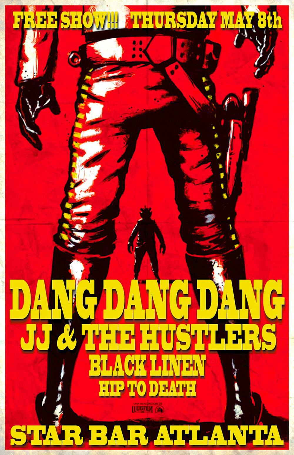 DANG DANG DANG ★ JJ & THE HUSTLERS ★ BLACK LINEN ★ HIP TO DEATH — May 8, 2014 — The Star Community Bar, Atlanta, GA