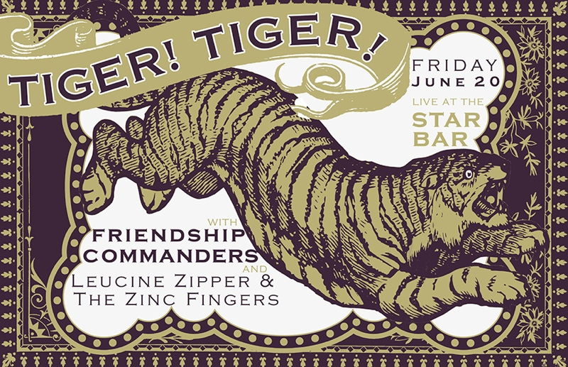 TIGER! TIGER! + FRIENDSHIP COMMANDERS + LEUCINE ZIPPER & THE ZINC FINGERS — June 20, 2014 — The Star Community Bar, Atlanta, GA