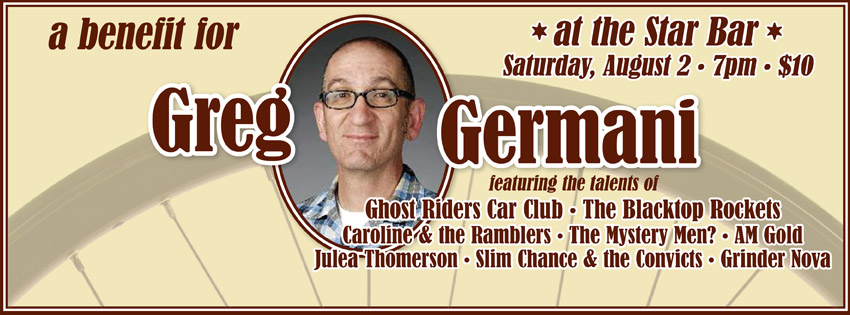 Greg Germani Benefit Show — August 2, 2014 — The Star Community Bar, Atlanta, GA