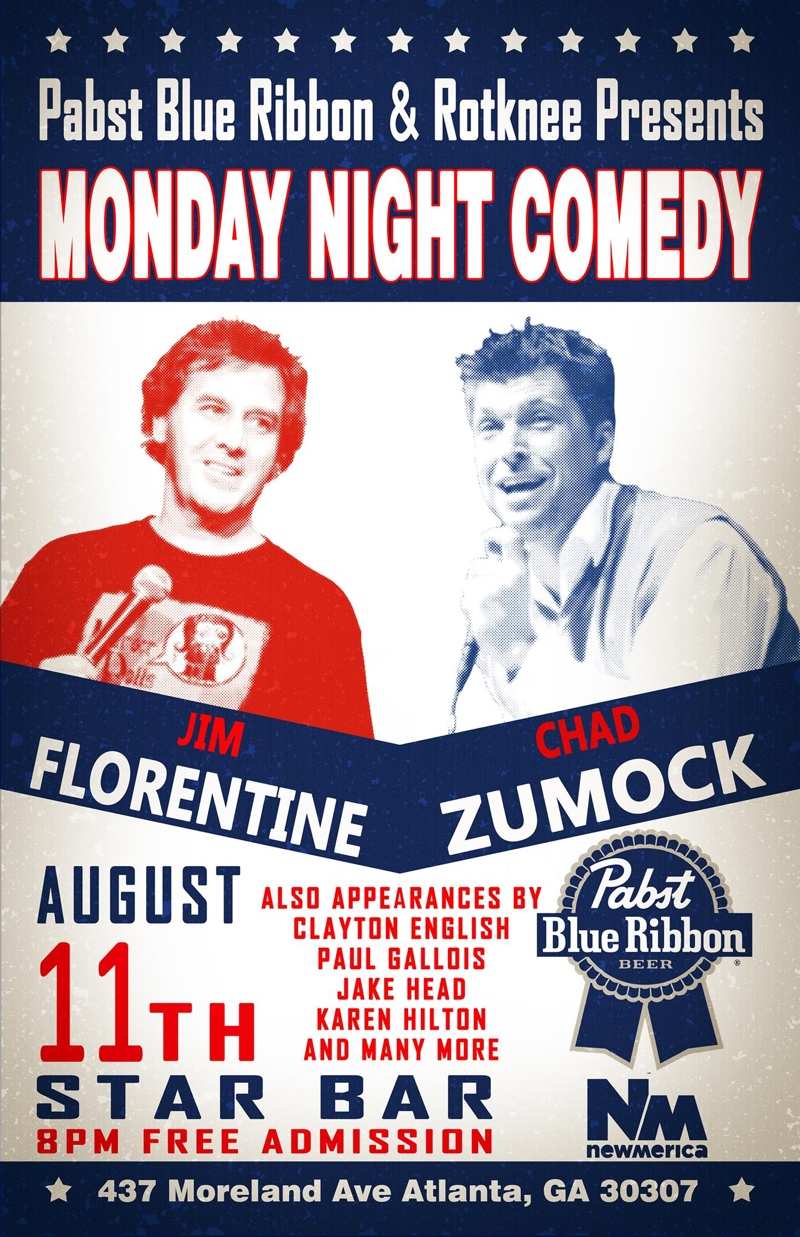 PBR and Rotknee present Monday Night Comedy — August 11, 2014 — The Star Community Bar, Atlanta, GA