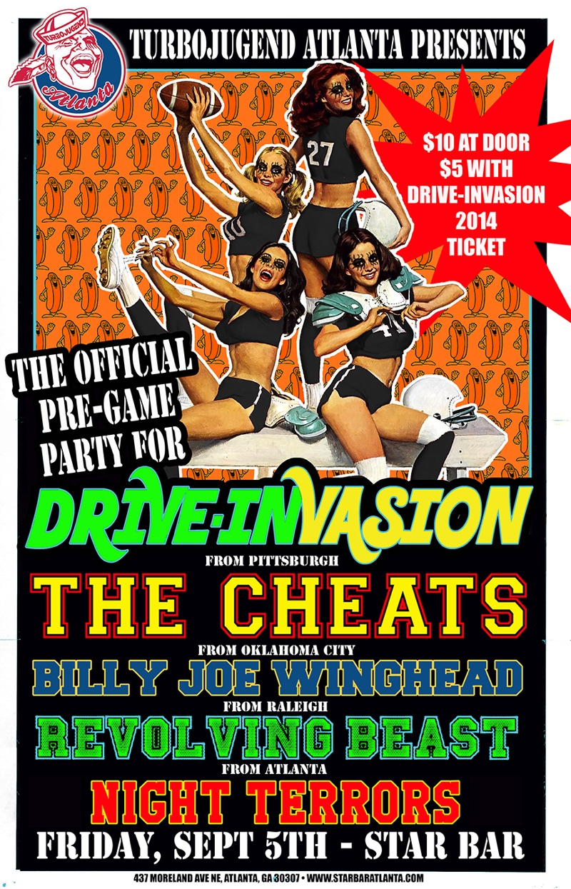 Official Pre-Game Party for DRIVE-INVASION — September 5, 2014 — The Star Community Bar, Atlanta, GA