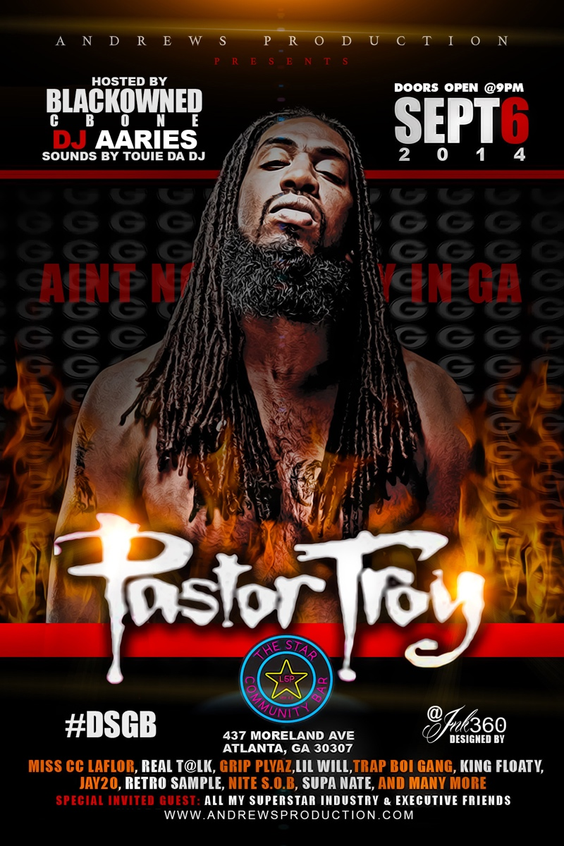 Pastor Troy — September 6, 2014 — The Star Community Bar, Atlanta, GA