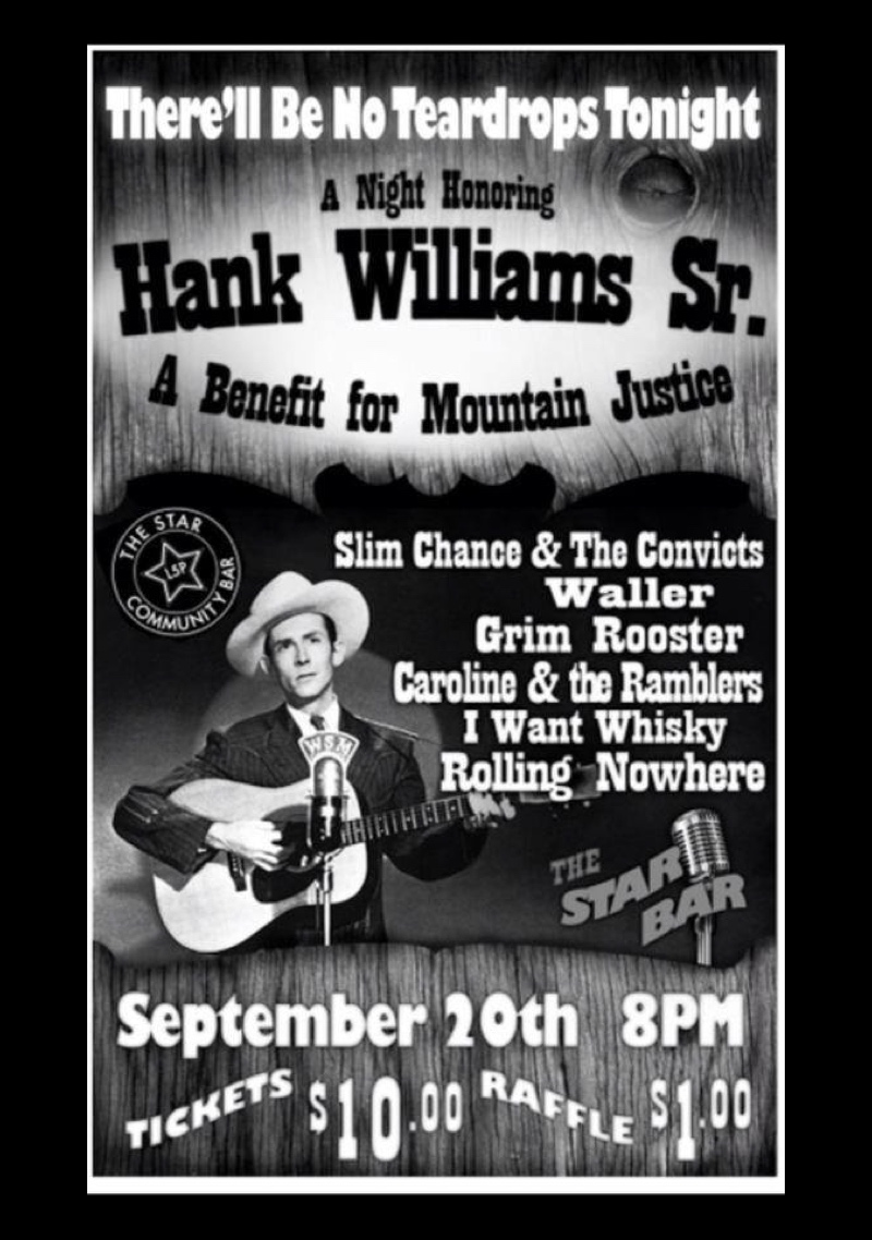 A Night Honoring HANK WILLIAMS SR. — September 20, 2014 — The Star Community Bar, Atlanta, GA