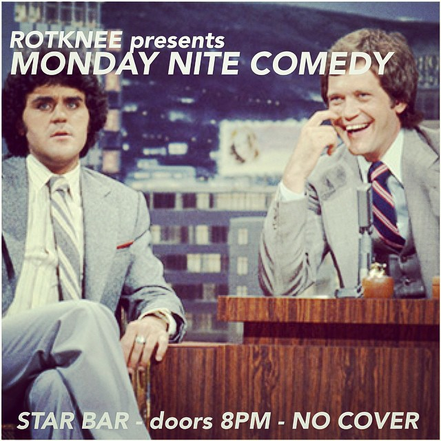 Rotknee Presents: Monday Night Comedy — October 6, 2014 — The Star Community Bar, Atlanta, GA