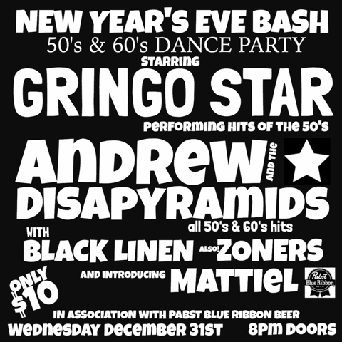 New Year's Eve Bash — December 31, 2014 — The Star Community Bar, Atlanta, GA