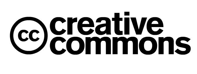 "The creative commons symbol is the letters ""cc"" inside of a circle."