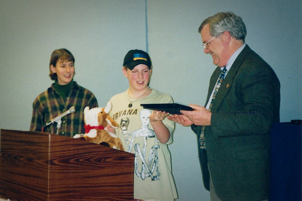 Jackpresenting an award at NCTV's1997 Cable Awards.