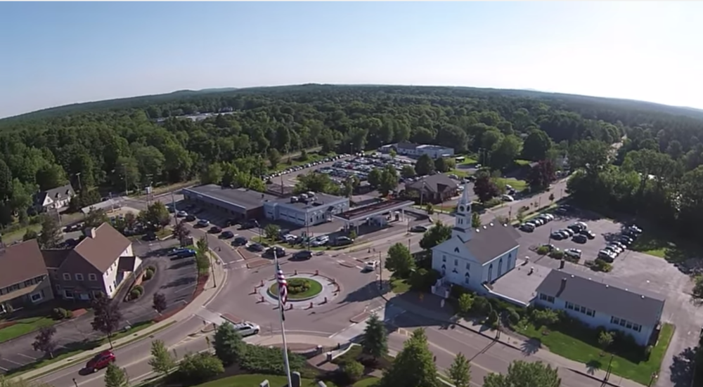 Screenshot from Jack's video of the town center.