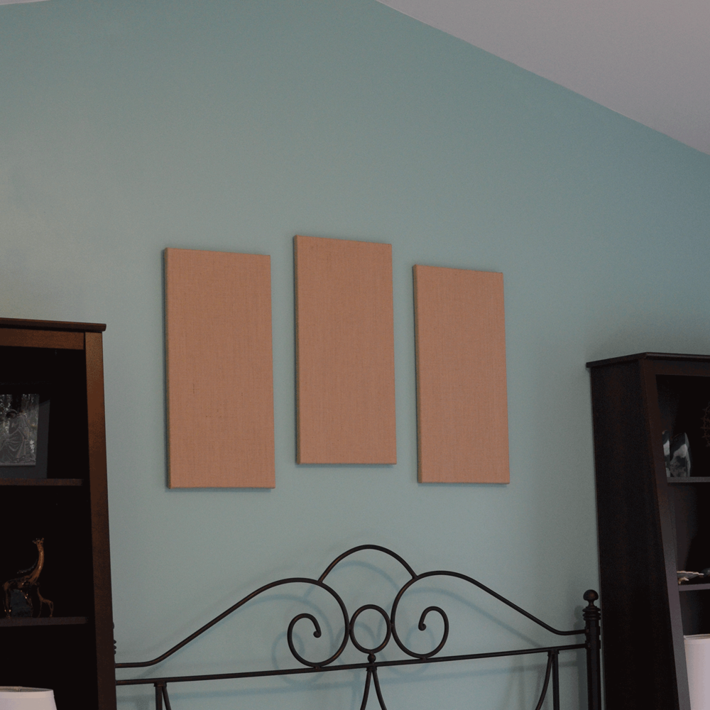 1. Hang the canvases.