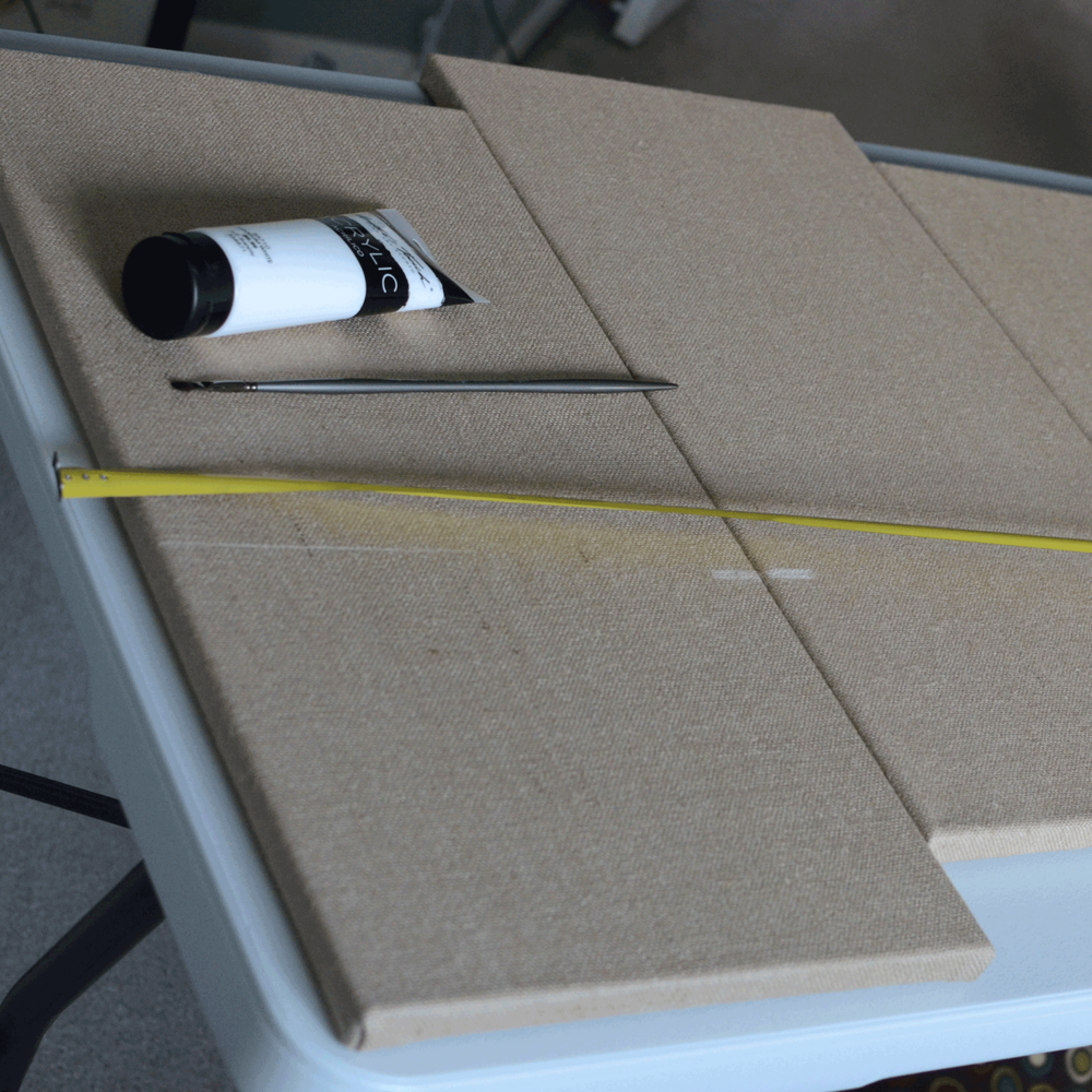 4. Use a long ruler or tape measure to create a straight line.