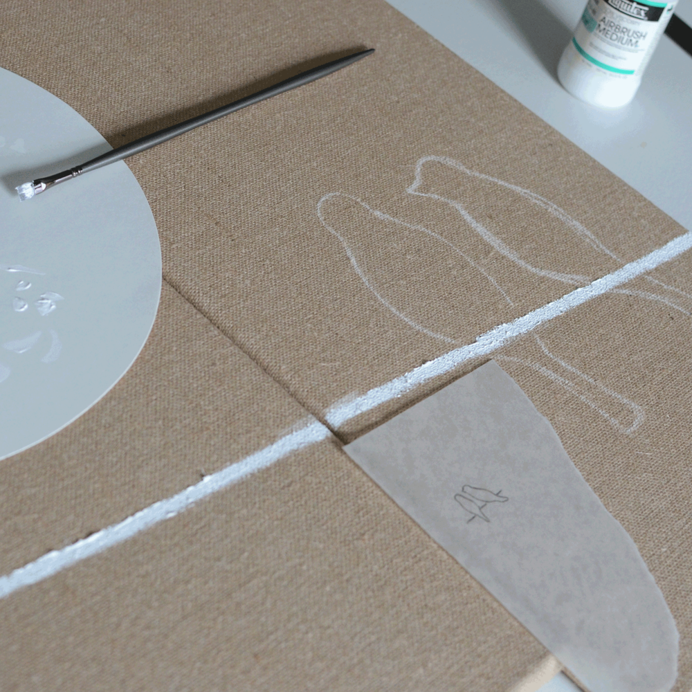 5. Use chalk to outline your chirpers.