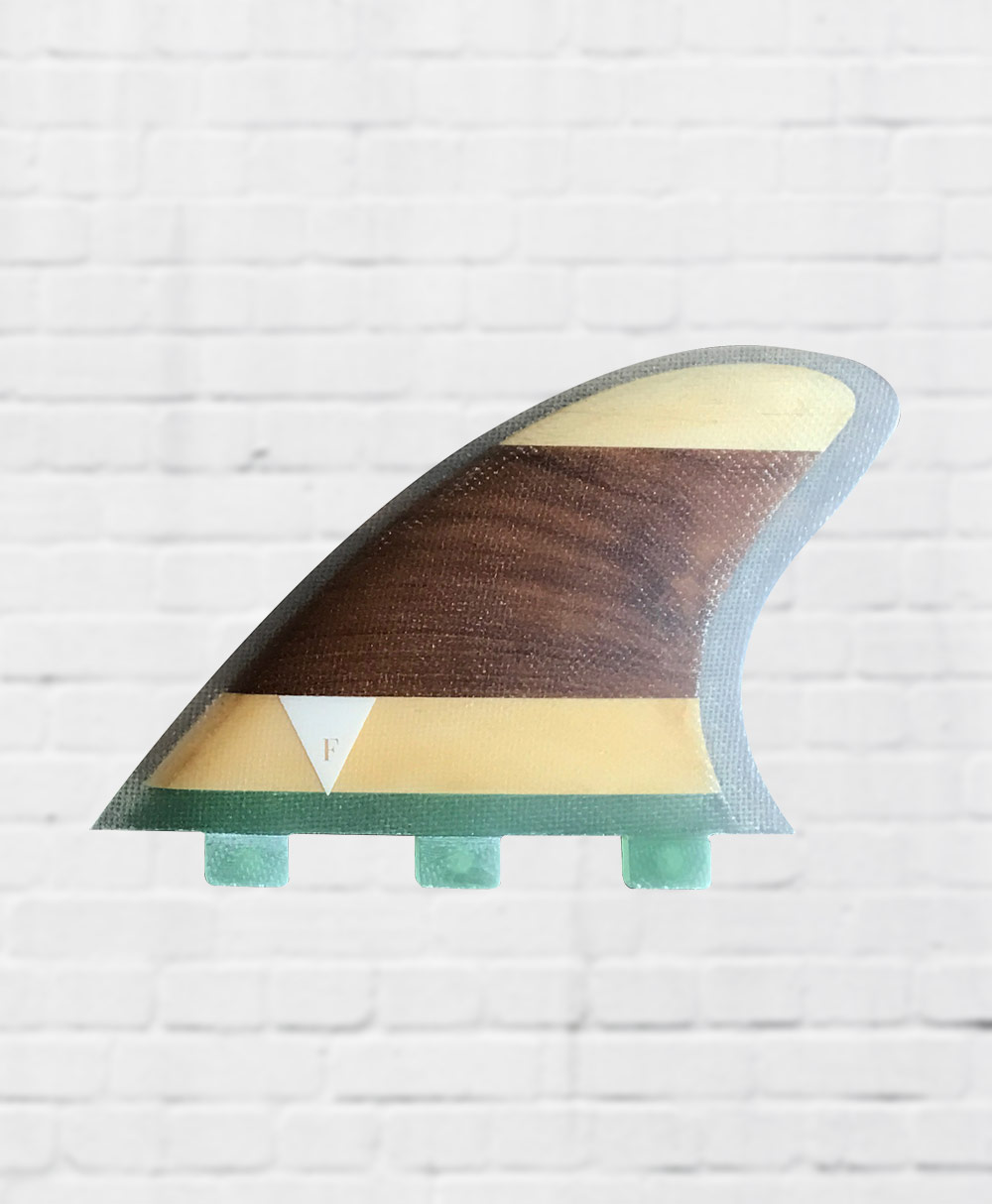 - Wooden Twin Fin