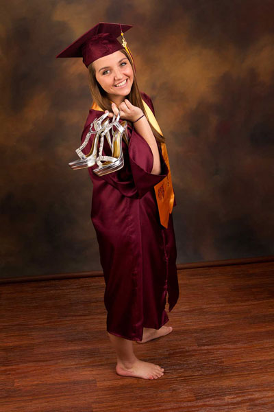 March: 2014 Senior Cap and Gown. — David Jensen Photography