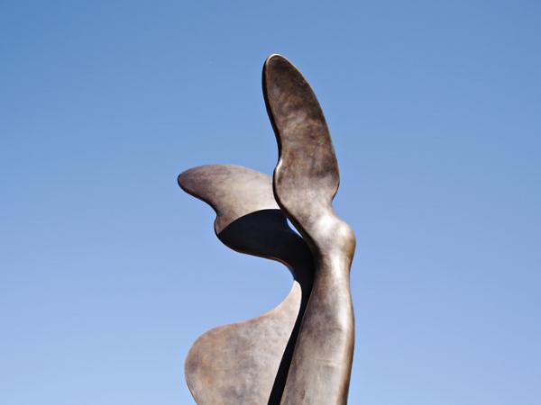 Nike Statue on Cordova x Thurlow. photo by VanCityBuzz