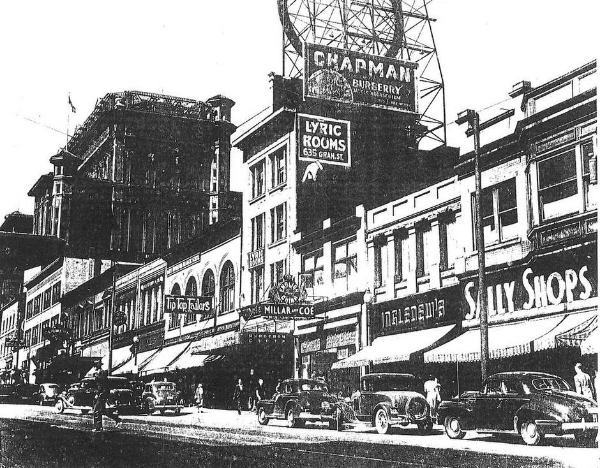 The first Ingledew's Shoes store was located on Granville St. Photo by The Globe and Mail.