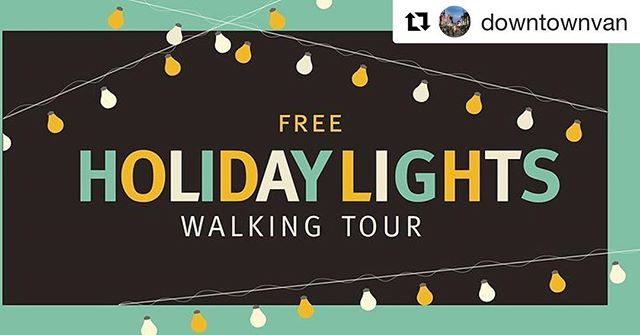 @downtownvan will be giving tours of light decorations and other spots around town worth checking out with the family over the holidays! Head over to their bio for more details! 🎄