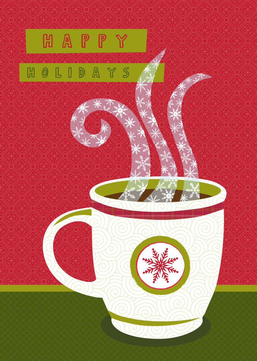 Red snowflake mug