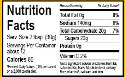 Jlees Regular Sauce Nutrition Facts