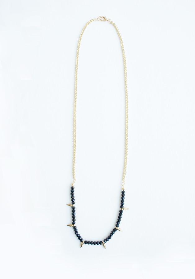 Spikes black swarovski  necklace