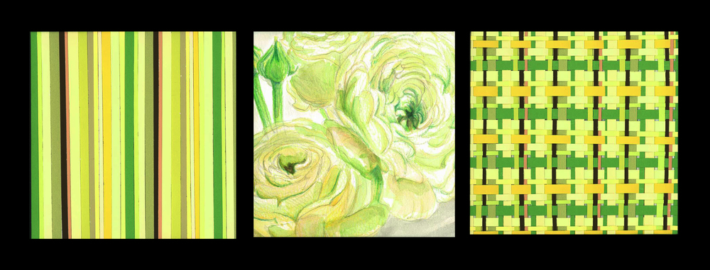 Picture to Pattern   ('11) Colour Aid Paper, Watercolour, Pencil Crayon