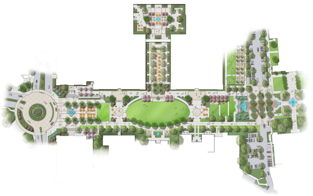 University Of San Diego Pedestrian Mall. Final Conceptual Plan