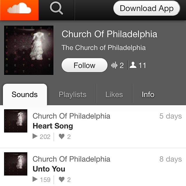 If you're having an trouble playing the new singles from our website on your mobile device, try our soundcloud page! www.soundcloud.com/thechurchofphiladelphia