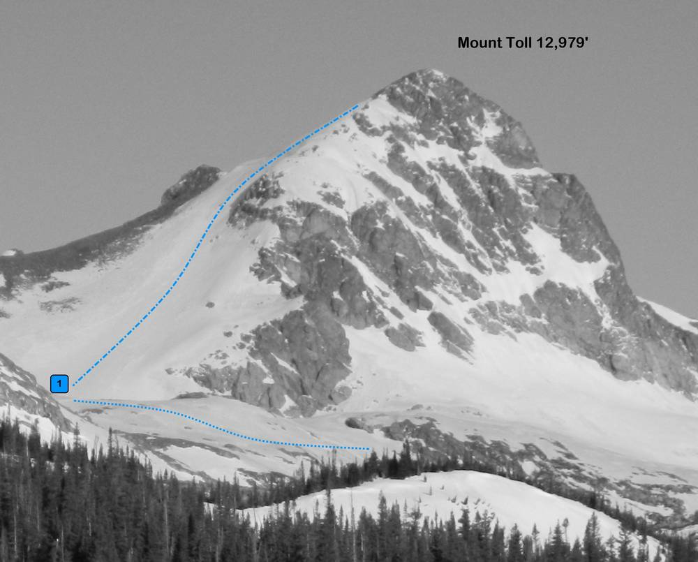 Mount Toll Overview from the East.  Photo: Rob Writz