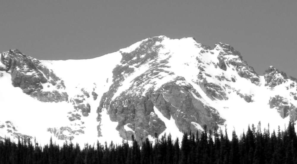 Apache Couloir and Queens Way from Brainard Lake.