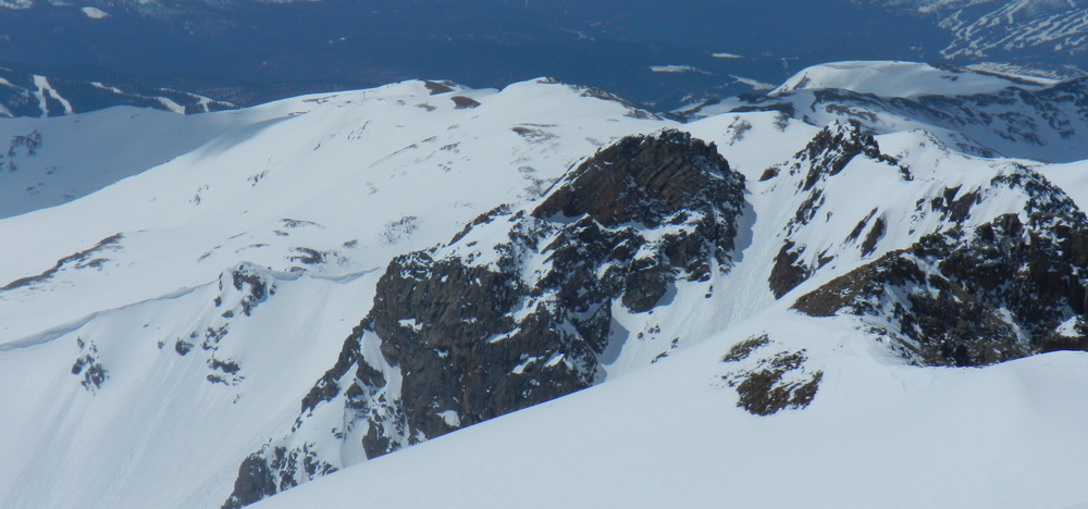 Top of the Northeast Chute and Bowl from Pettingell Peak.