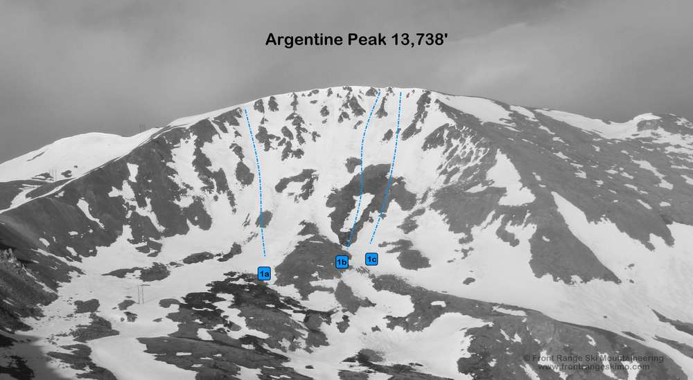 Argentine Peak from the northeast.  Photo: Rob Writz
