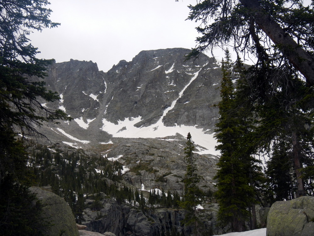 North Couloir from Pawnee Lake.
