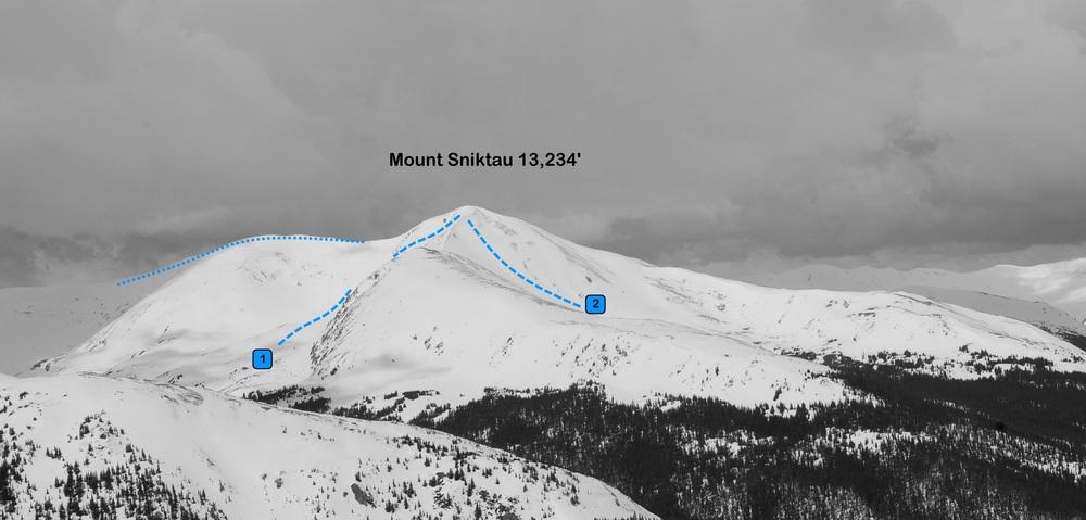 Mount Sniktau from the east. Photo: Rob Writz