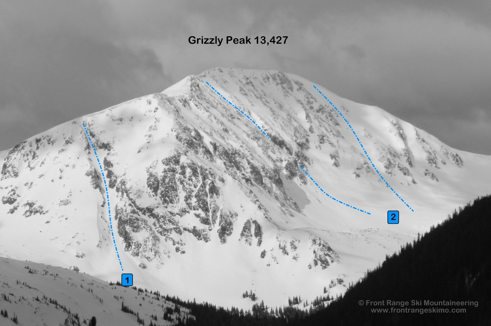 Grizzly Peak from the northeast.  Photo: Rob Writz