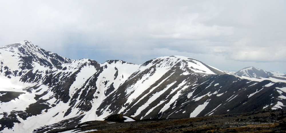 Mount Edwards as seen from Argentine Peak to the south.
