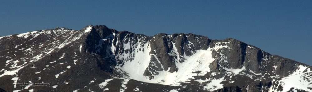 Mount Evans North Face from the north.