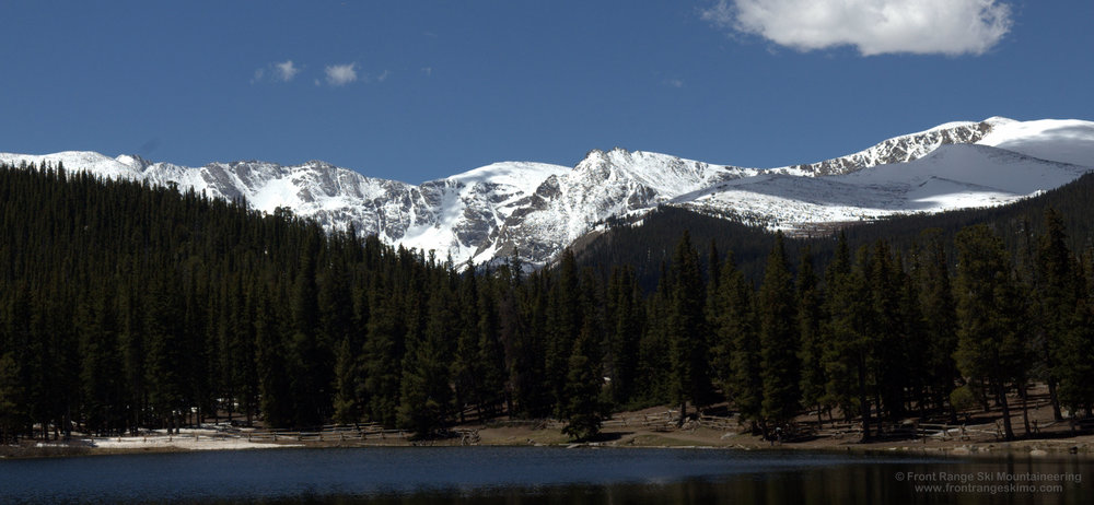 Mount Evans, Mount Spalding, and Gray Wolf Mountain from Echo Lake.