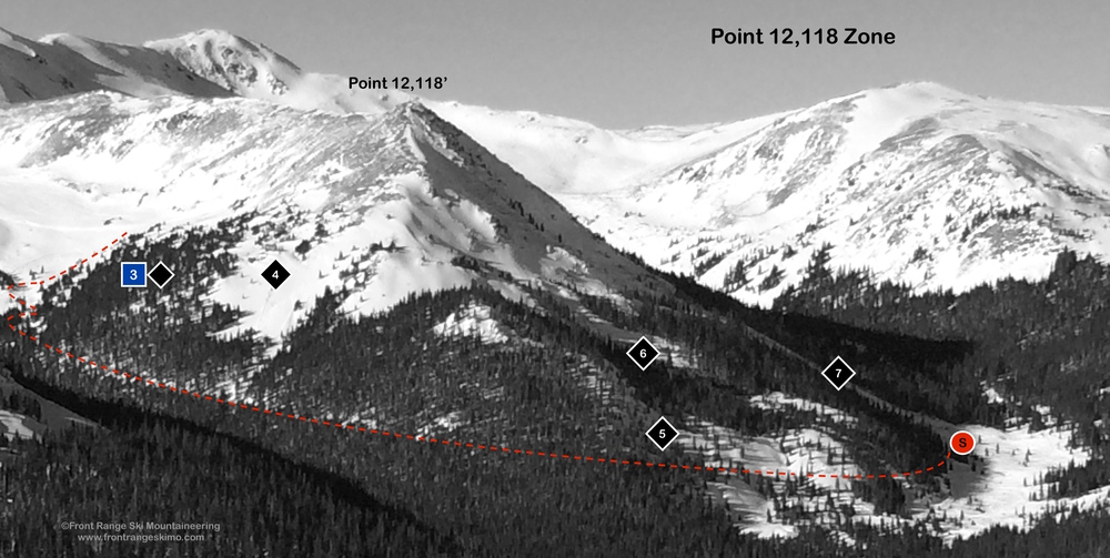 Point 12,118 Zone from the southwest. Photo: Rob Writz