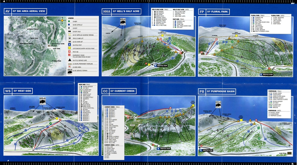 The old Berthoud Pass Ski Area map.