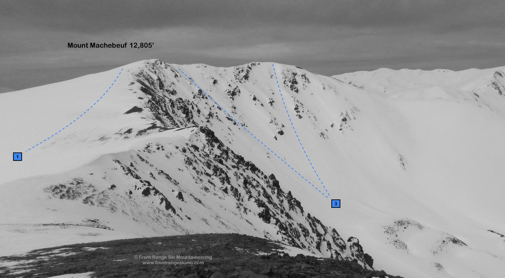 Mount Machebeuf from the Northeast.