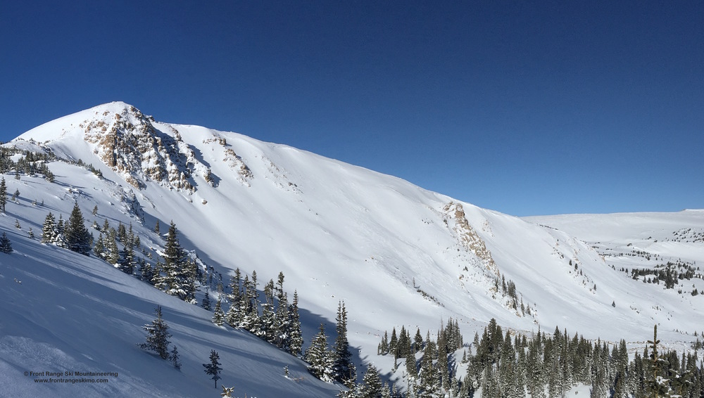 Another view of the Second Creek Headwall as seen from Second Creek Ridge's Corner Pocket Trees.