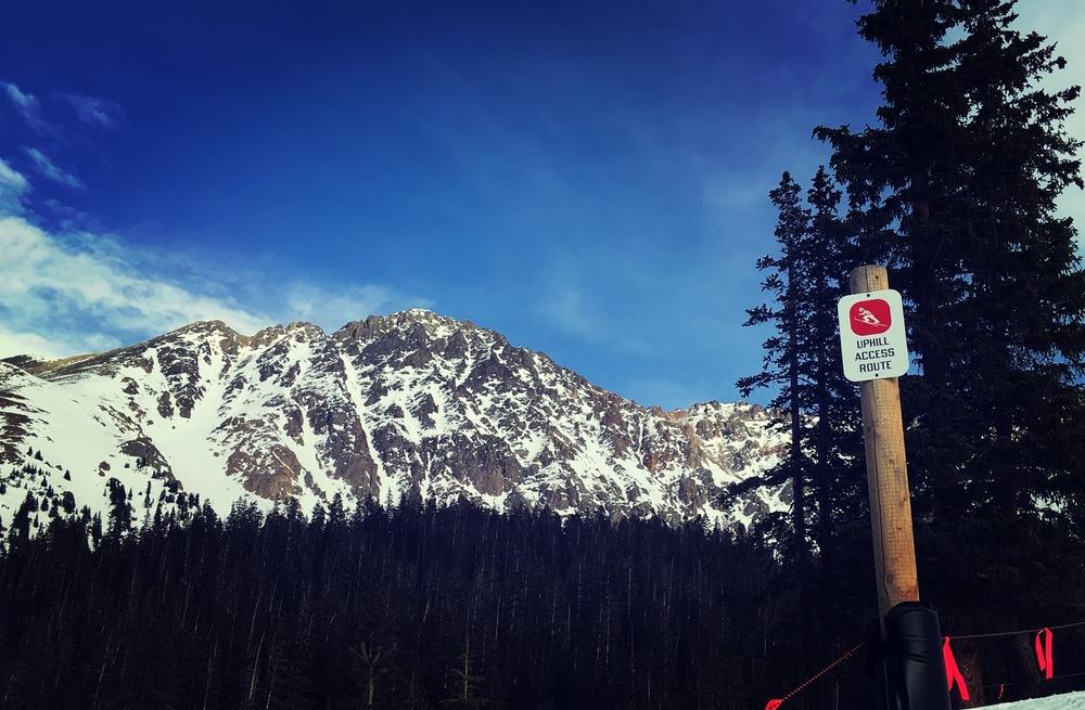 uphill access at arapahoe basin ski area front range ski